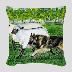 bel terv herd Woven Throw Pillow