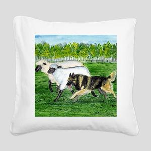 bel terv herd Square Canvas Pillow