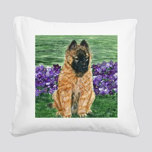 bel terv pup Square Canvas Pillow