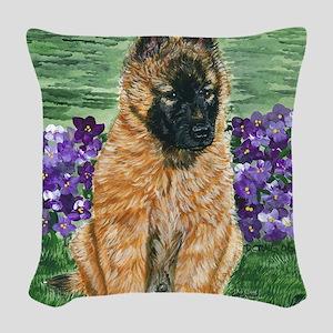 bel terv pup Woven Throw Pillow
