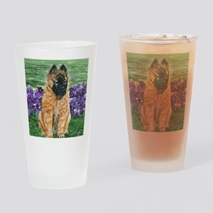 bel terv pup Drinking Glass