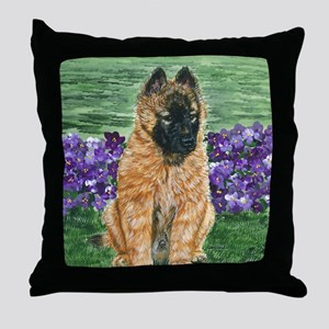 bel terv pup Throw Pillow