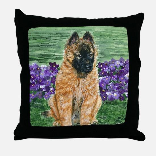 bel terv pup Throw Pillow