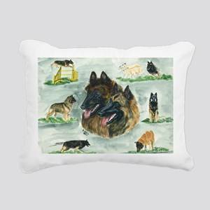 bel terv versatility Rectangular Canvas Pillow
