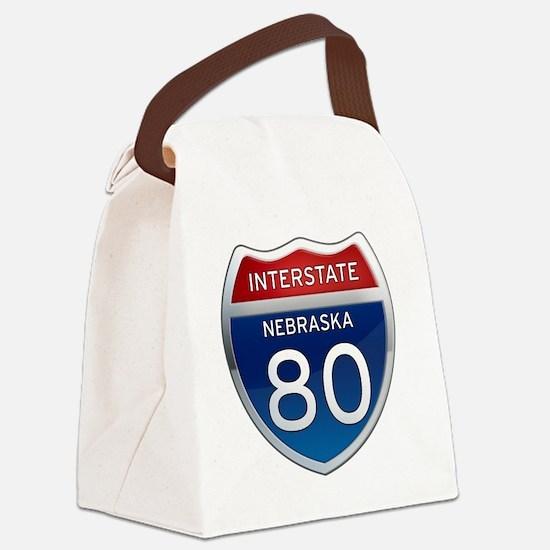 Interstate 80 - Nebraska Canvas Lunch Bag