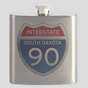 Interstate 90 - South Dakota Flask