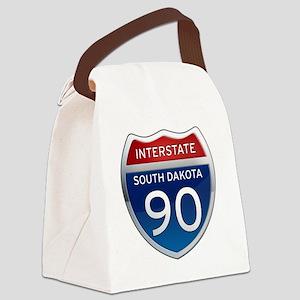 Interstate 90 - South Dakota Canvas Lunch Bag