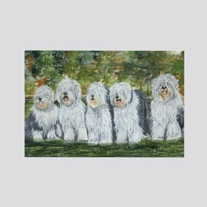 old english sheepdog Rectangle Magnet