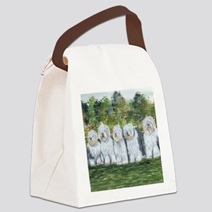 old english sheepdog Canvas Lunch Bag