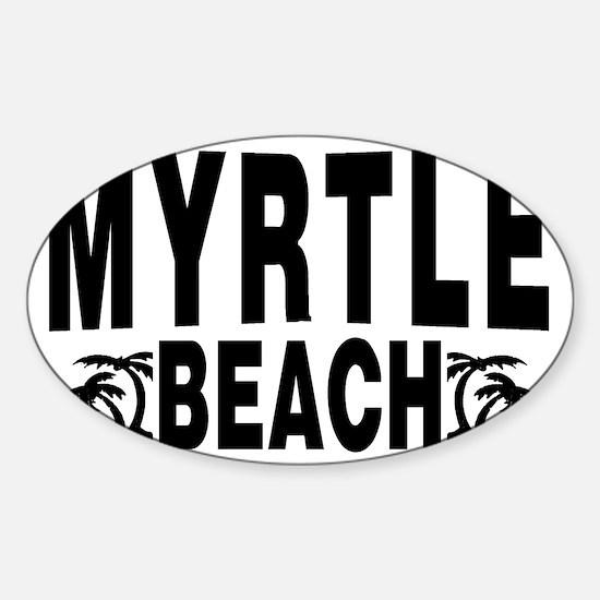 beach_myrtle Sticker (Oval)