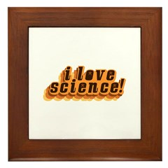 Love Science Retro Framed Tile