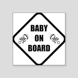 "baby on board 3 Square Sticker 3"" x 3"""