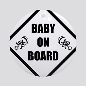 baby on board 3 Round Ornament