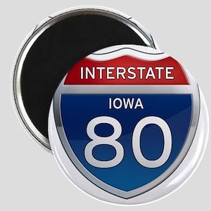 Interstate 80 - Iowa Magnet