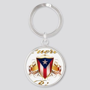 puerto rico Round Keychain