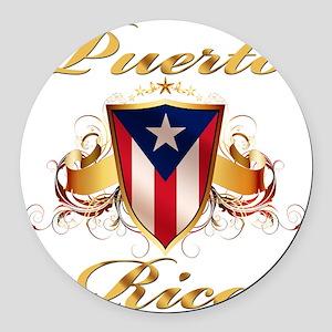 puerto rico Round Car Magnet