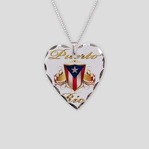 puerto rico Necklace Heart Charm