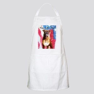fathers day boxer greeting card Apron