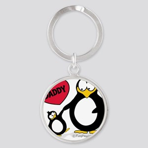 I heart daddy penguin Round Keychain