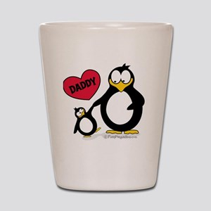 I heart daddy penguin Shot Glass