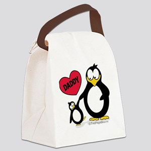 I heart daddy penguin Canvas Lunch Bag