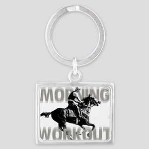 The Morning Workout Landscape Keychain
