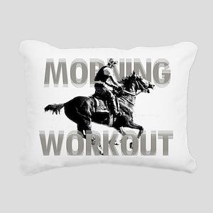 The Morning Workout Rectangular Canvas Pillow
