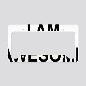 I am Awesome License Plate Holder