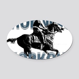 The Morning Workout Oval Car Magnet