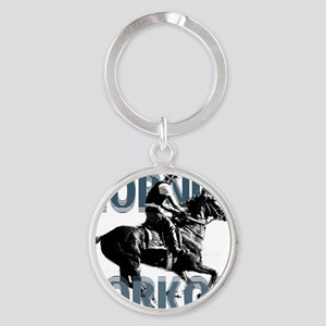The Morning Workout Round Keychain