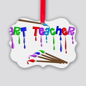 Art Teacher Multi Brushes Picture Ornament