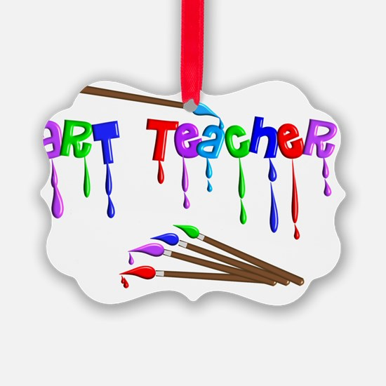 Art Teacher Multi Brushes Ornament