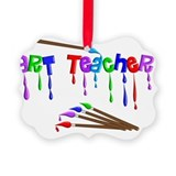 Art teacher Picture Frame Ornaments
