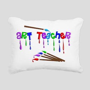 Art Teacher Multi Brushe Rectangular Canvas Pillow
