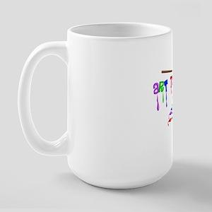 Art Teacher Multi Brushes Large Mug