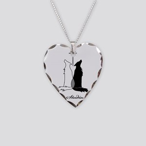 LupineShirtLogoWB Necklace Heart Charm