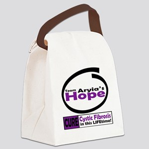 Hope Cure Cystic Fibrosis in this Canvas Lunch Bag