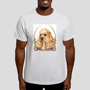 Cocker Spaniel Christmas/Holiday Ash Grey T-Shirt