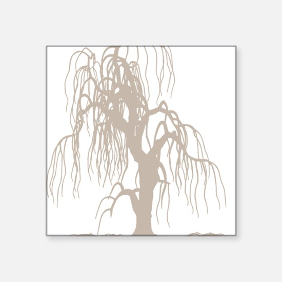 """weepingwillowtree3 Square Sticker 3"""" x 3"""""""