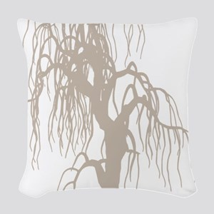 weepingwillowtree3 Woven Throw Pillow