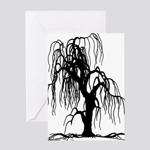 Willow tree greeting cards cafepress weepingwillowtree1 greeting card m4hsunfo