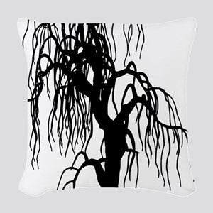 weepingwillowtree1 Woven Throw Pillow