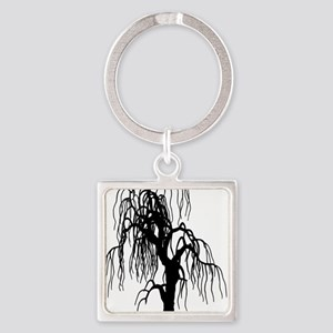 weepingwillowtree1 Square Keychain