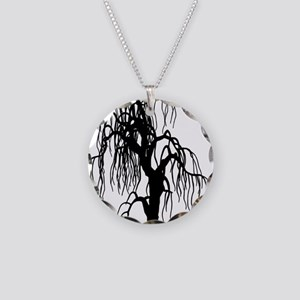 weepingwillowtree1 Necklace Circle Charm