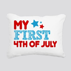 MY FIRST 4TH of July Rectangular Canvas Pillow