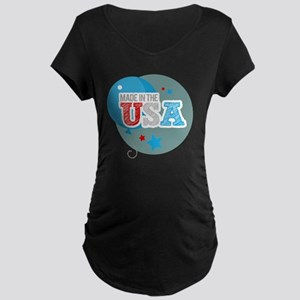made in the usa Maternity Dark T-Shirt