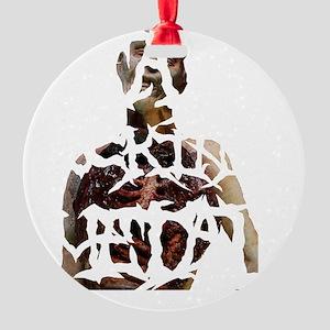 death-fucking-metal-BIG Round Ornament