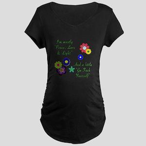 Peace, Love & Light Maternity T-Shirt
