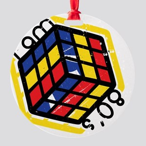 I-am-80s Round Ornament