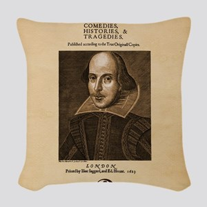 First_Folio-Square-Large Woven Throw Pillow
